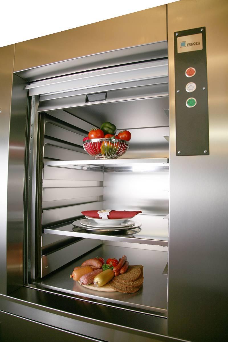 Thang máy tải thực phẩm - thang máy mạnh tiến